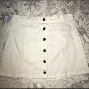 White Forever 21 denim skirt